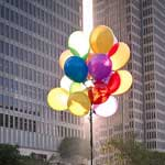 balloons in city