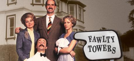 Haughty Basil Fawlty and his bossy wife